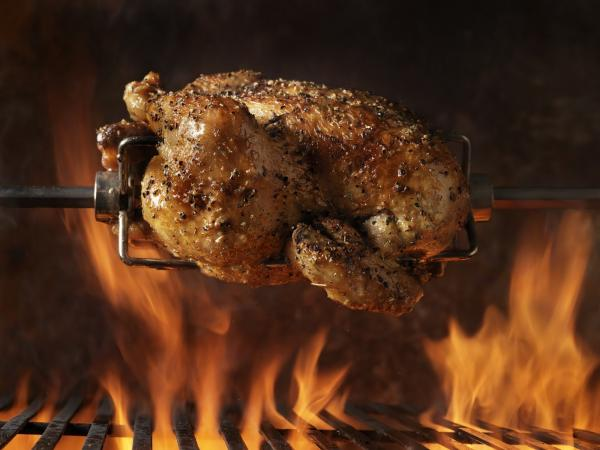 BBQ rotisserie chicken