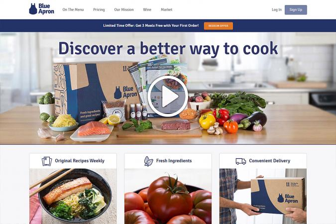 Screenshot of Blue Apron
