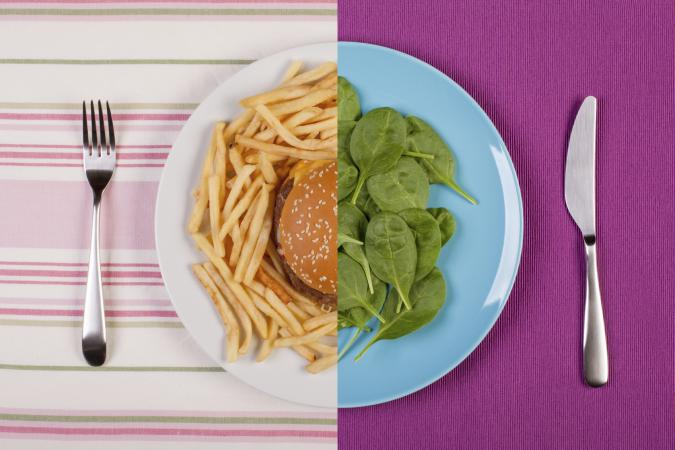 fast food vs. nutritious food