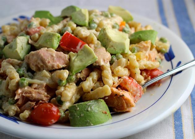 Salmon and Veggie Pasta Salad