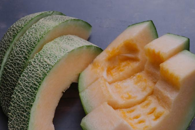 fresh melon slices