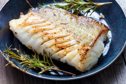 Cooked cod fillet