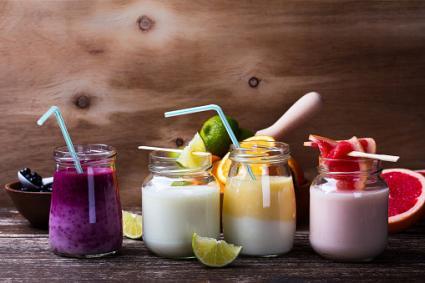 yogurt fruit smoothies