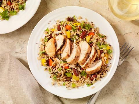 Chicken with Quinoa and Brown Rice