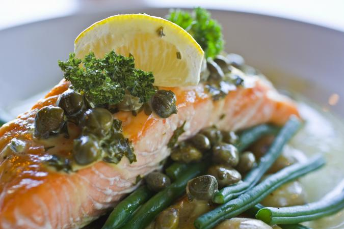 salmon with capers and lemon