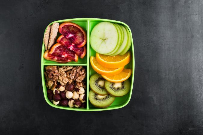 beautiful healthy snack box