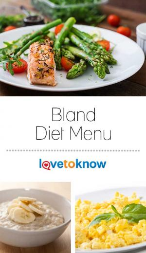 Plate of bland diet food