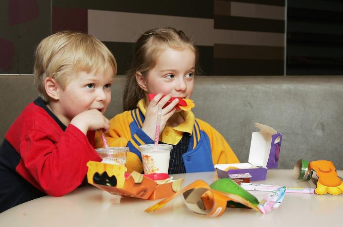 McDonalds Low Fat Kids Happy Meal
