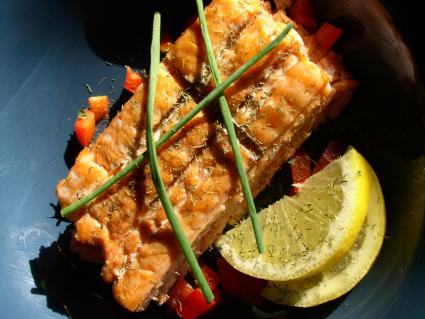 healthy salmon dish