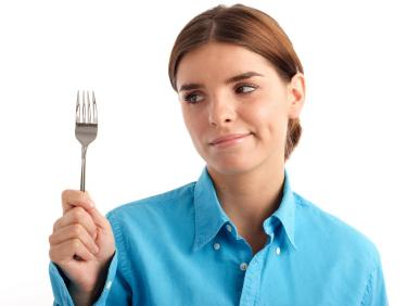 Woman with Fork