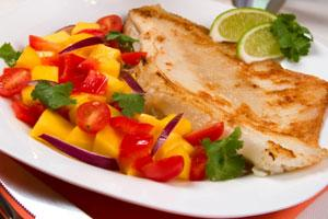 low calorie fish dinner