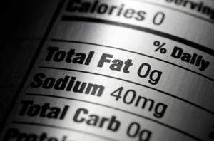 sodium on label