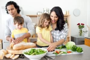 Family Preparing Dinner