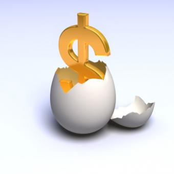 egg and dollar sign