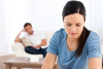 couple thinking about divorce