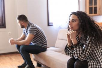 Couple pondering separation