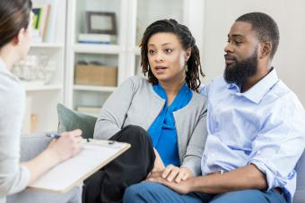 couple in marriage counseling session