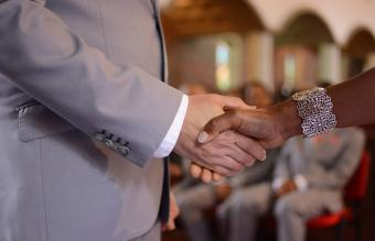 couple during divorce ceremony