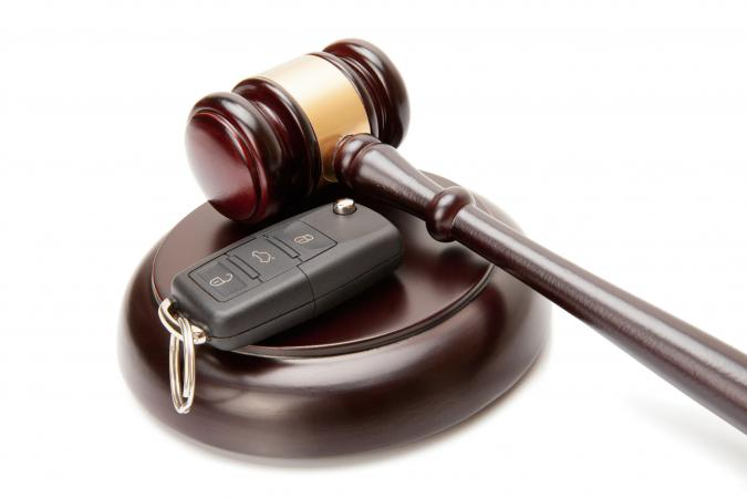 Judge gavel and car keys