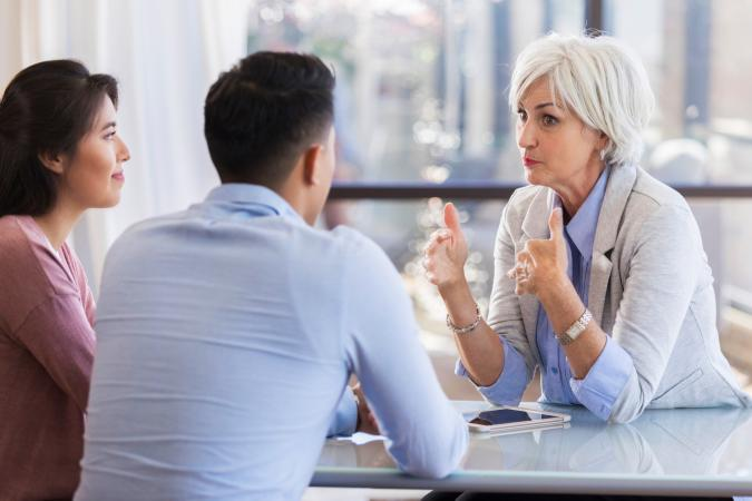 Marriage counselor advises young couple