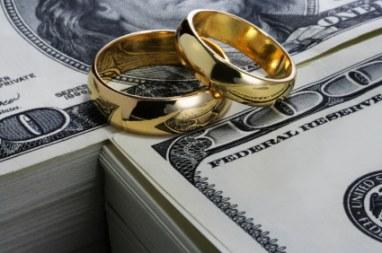 rings on top of money