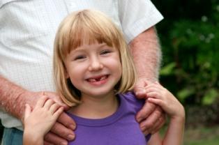 Little girl with custodial parent