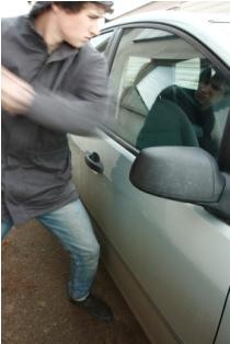 Divorce revenge of smashing car window
