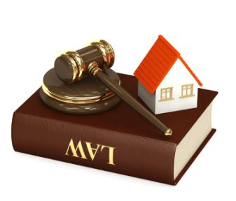 House, gavel and law book