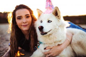 Girl Exploring Colorado Outdoors with Siberian Husky