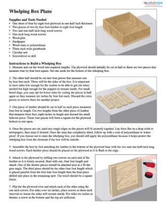 Whelping box plans printable thumb