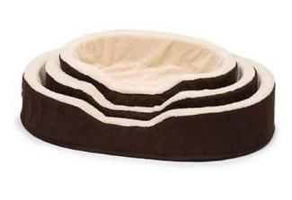 Petco Brown & Tan Orthopedic Lounger Dog Bed