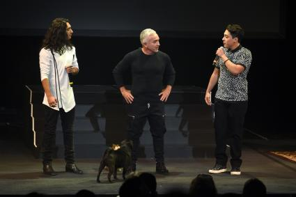 Cesar Millan with sons Calvin and Andre