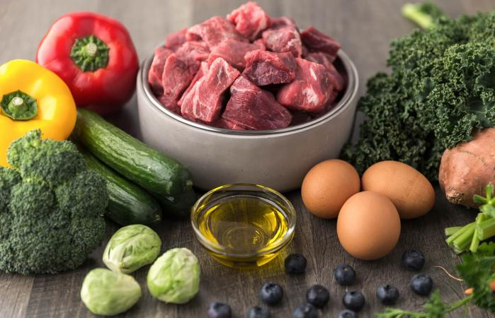 Raw dog food ingredients