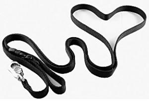 Black nylon dog leash style option