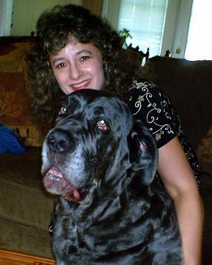 Dr. Kim Bloomer and her dog, Shadrach.