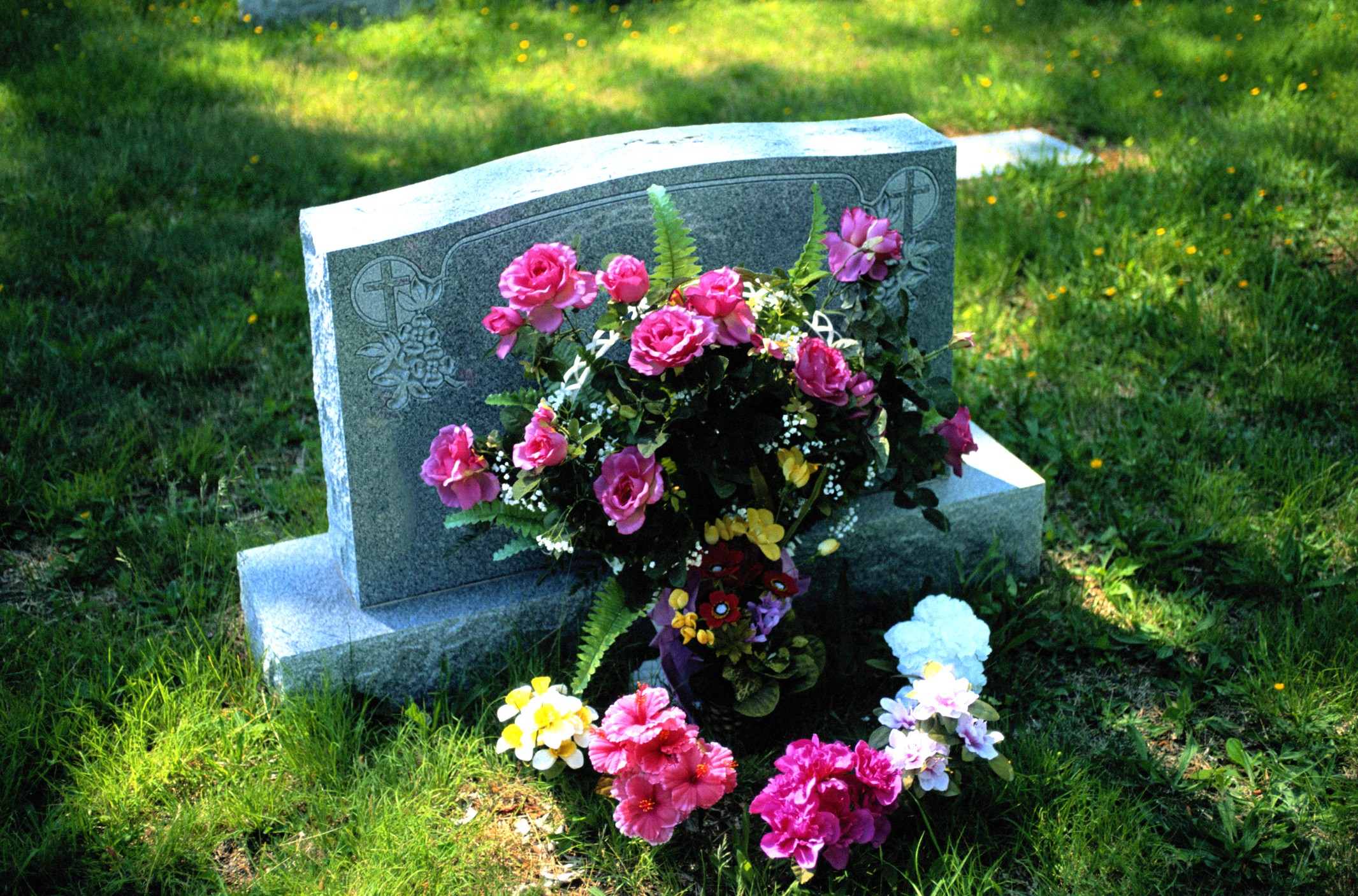 Cemetery Headstone Flower Holder