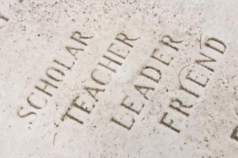 Writing on a headstone
