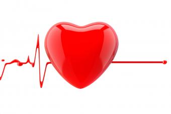 Heart with heartbeat