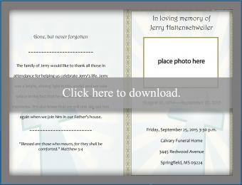 Folded Funeral Template
