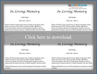 Obituary Template - Family