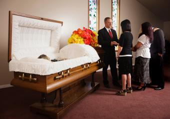 Guests at a Funeral