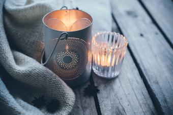 sympathy throw and candle light