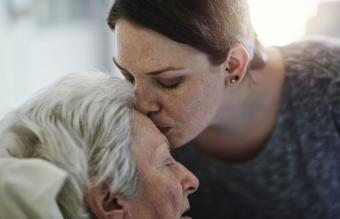 Kissing dying mother