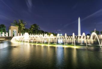 World War II Memorial with Washington