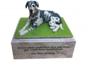 Custom Urn of dog named Molly