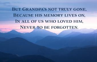 Grandfather death poems i miss you