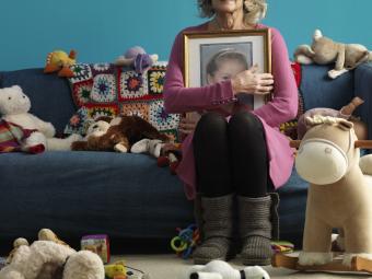 woman grieving a child's death