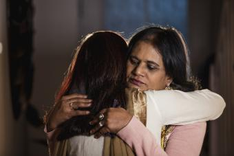 woman offering a comforting hug