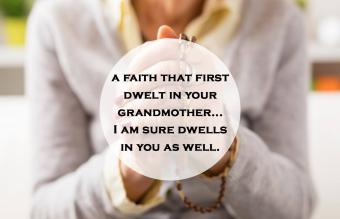 Grandma praying