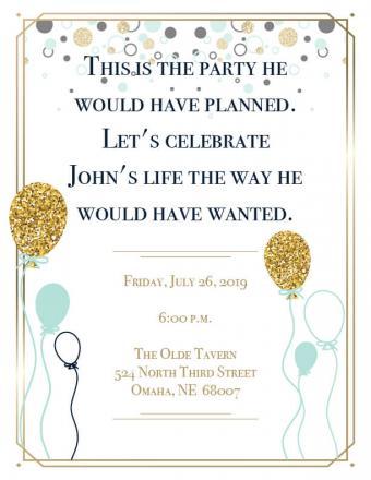 Celebrate life invitation